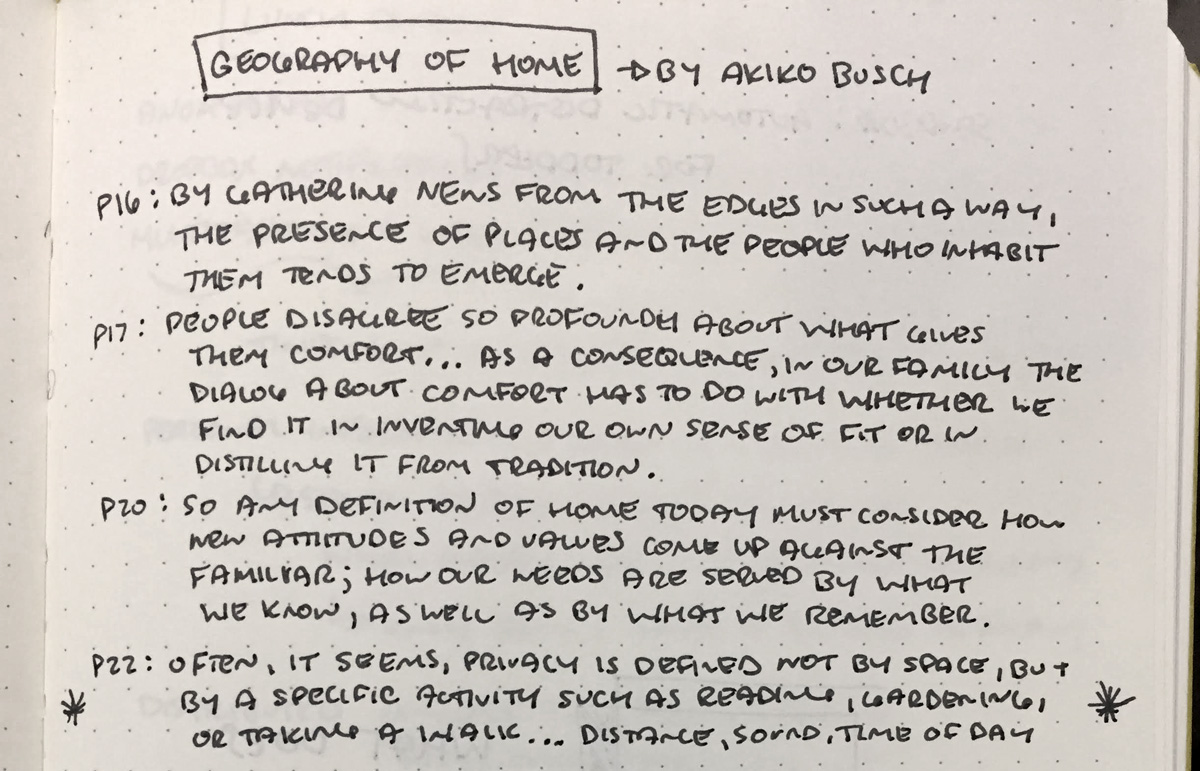Quotes from Geography of Home by Akiko Busch