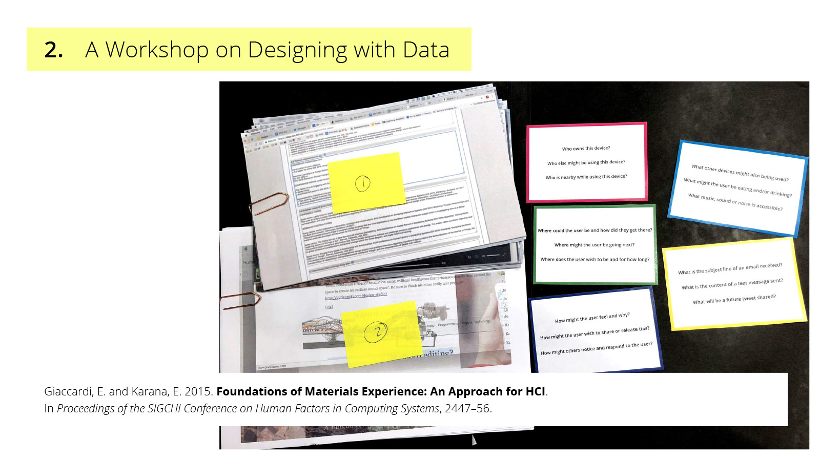 UX of AI presentation - designing with data workshop