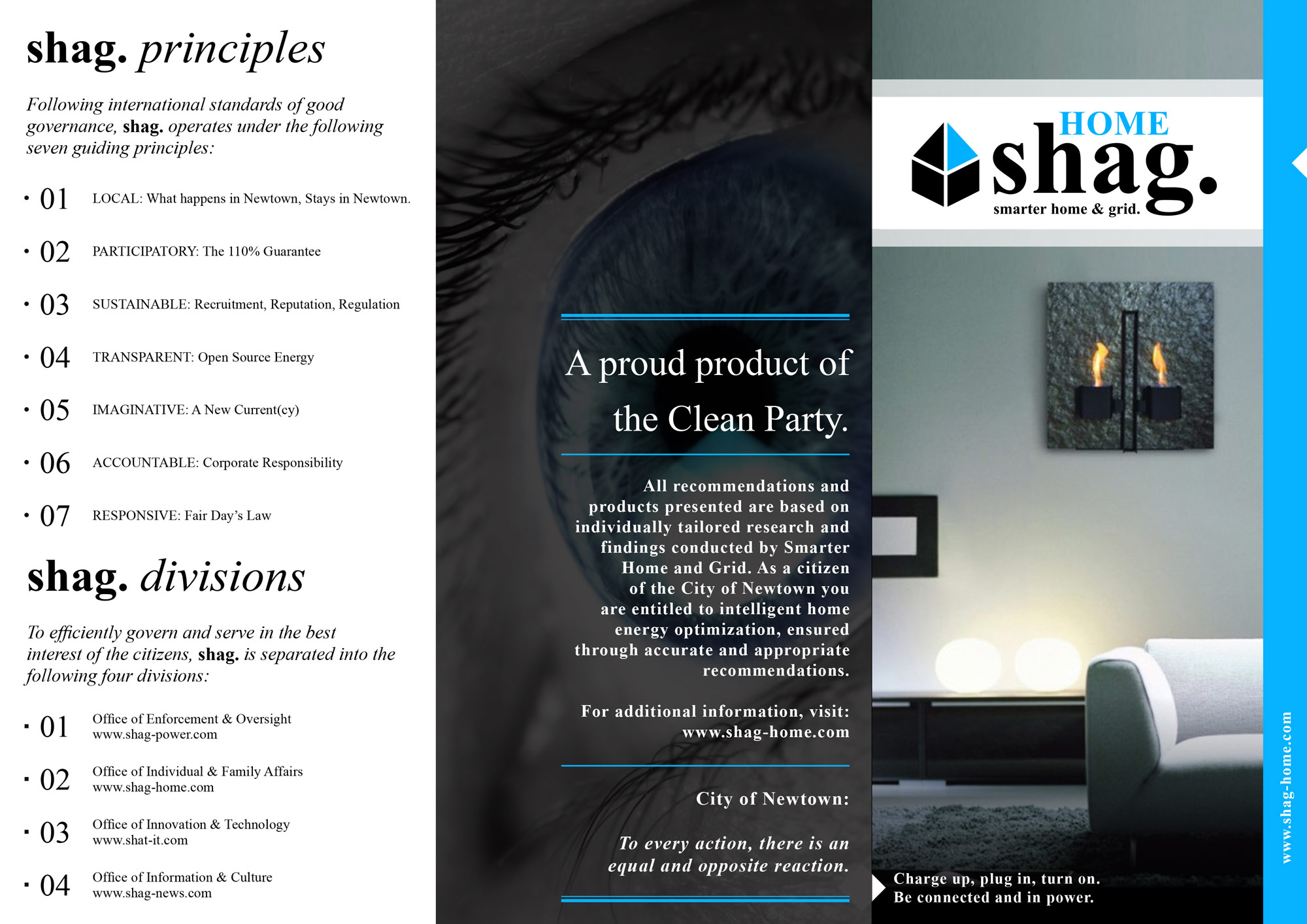 Design Fiction smart home brochure