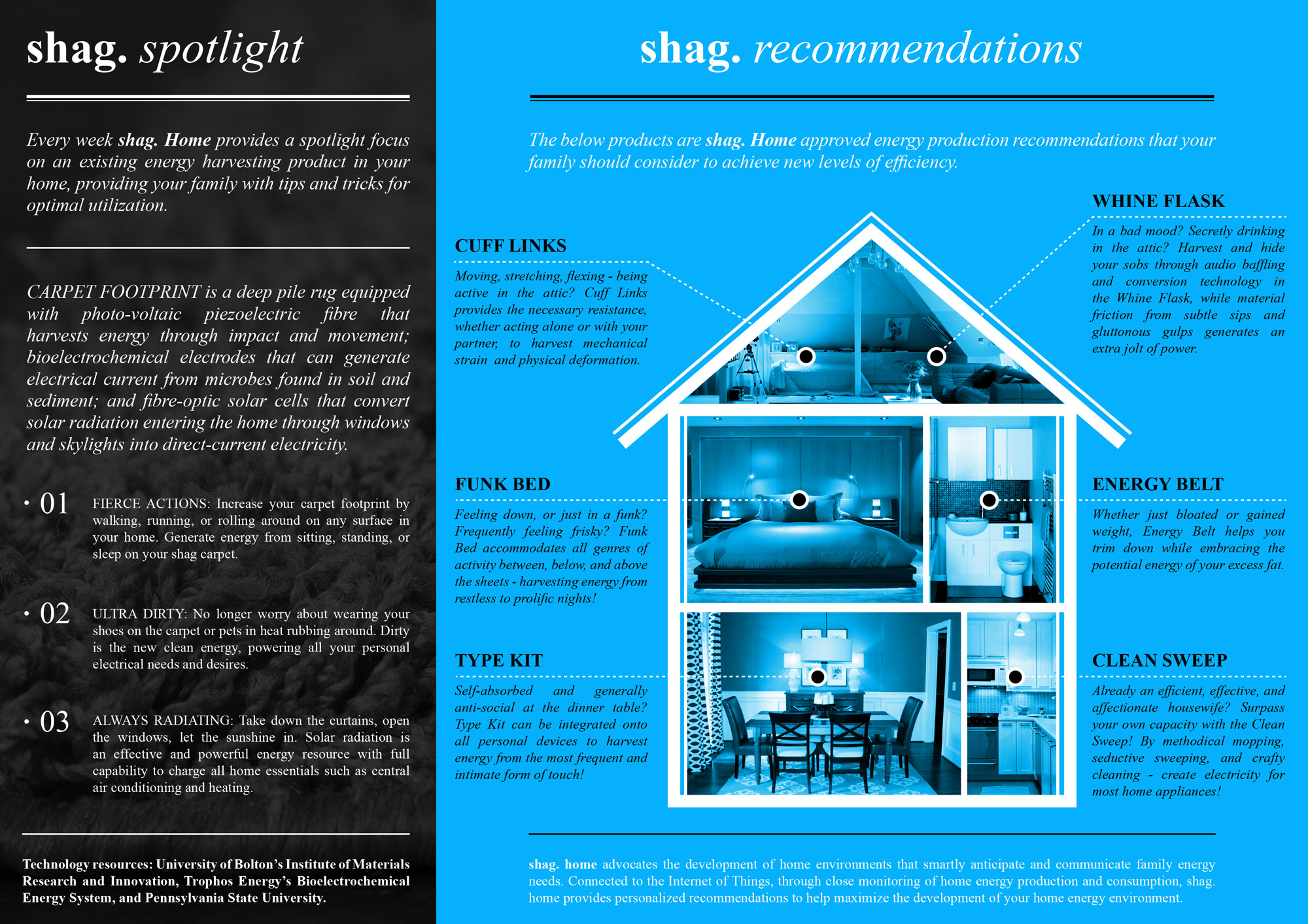 Design Fiction smart home brochure