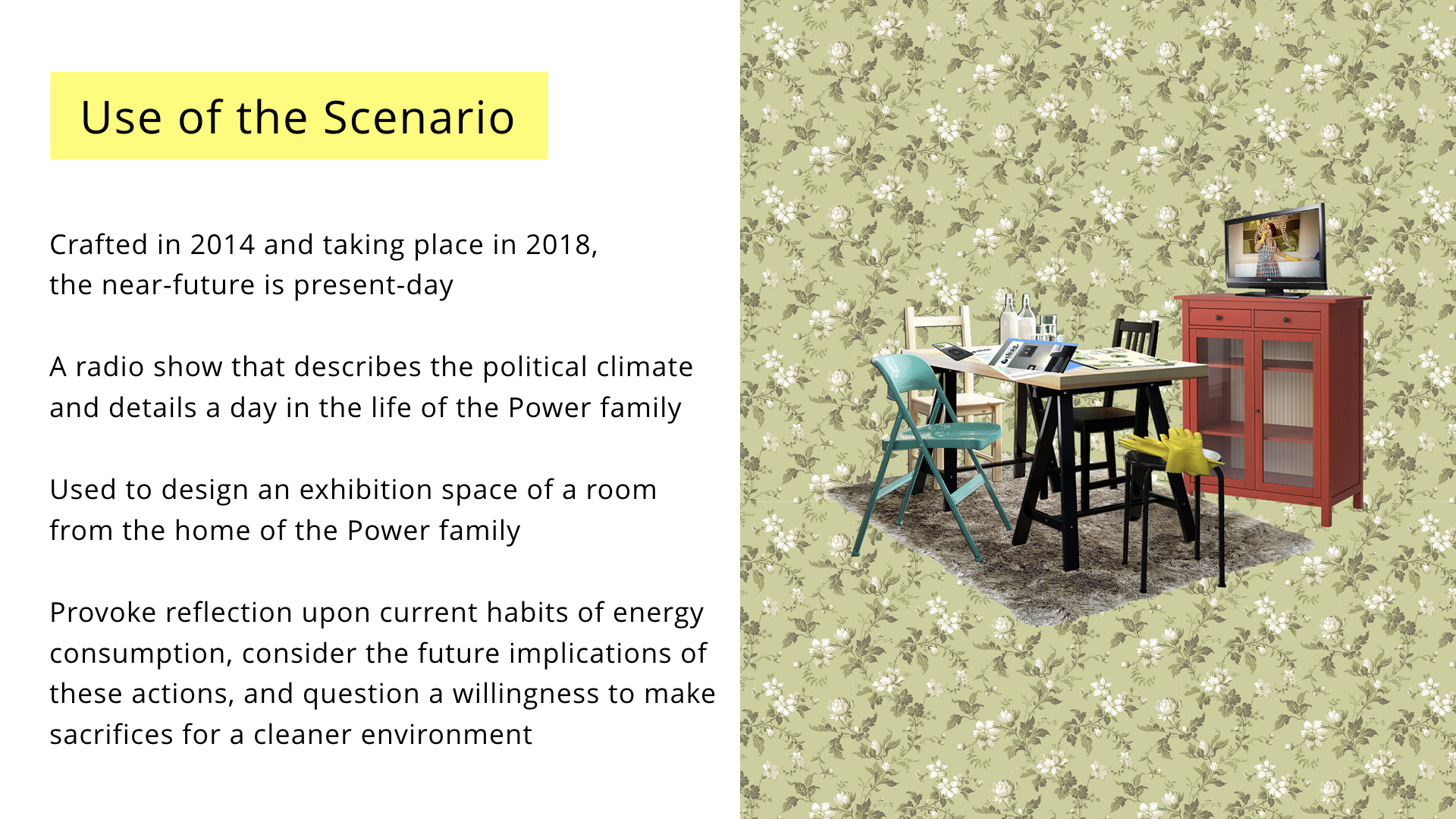 NordiCHI future scenarios presentation: Use of the scenario