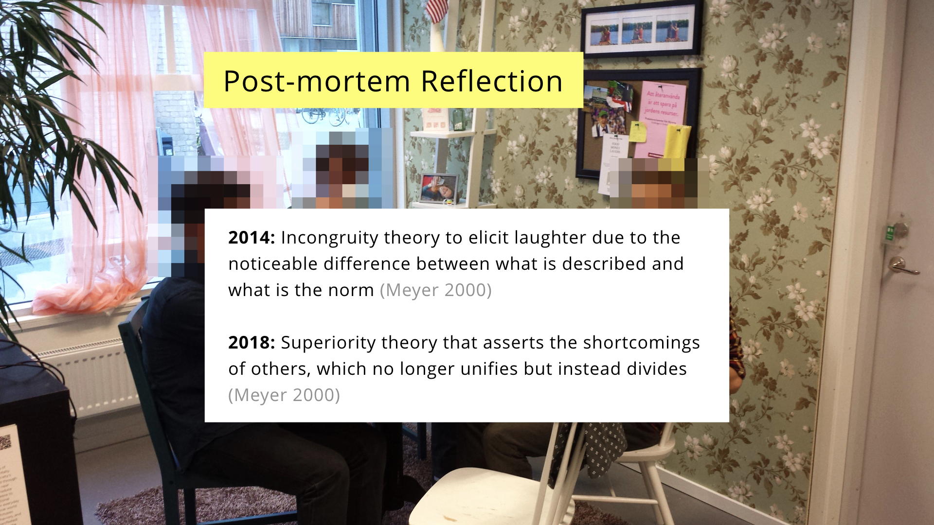 NordiCHI future scenarios presentation: Post-mortem reflection