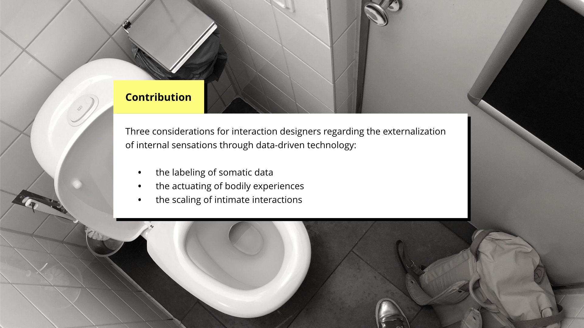 DIS 2019 paper presentation - contribution