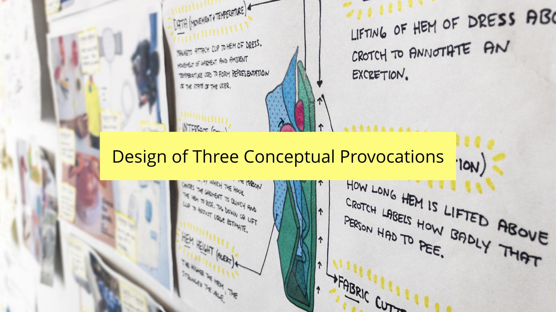 DIS 2019 paper presentation - design of three conceptual provocations