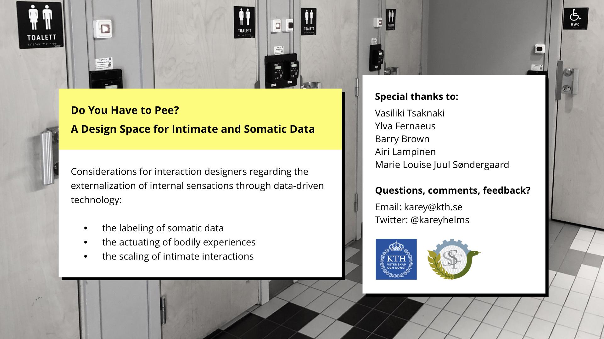 DIS 2019 paper presentation - conclusion