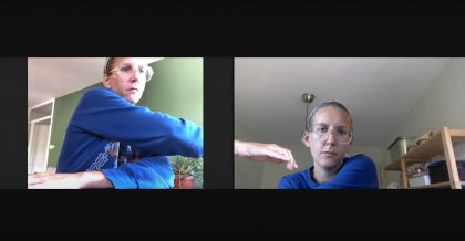 Bodily conversations with myself via Zoom
